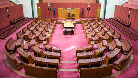 A câmara de Senado foto de stock