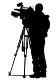 Câmara de televisão Fotos de Stock
