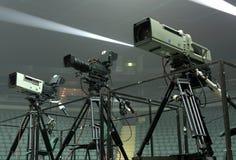 Câmara de televisão Foto de Stock Royalty Free