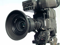 Câmara de televisão do estúdio Fotografia de Stock
