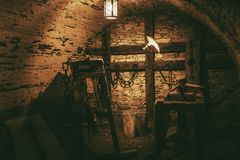 Câmara de tortura imagem de stock