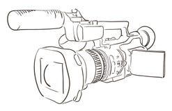 Câmara de vídeo ilustração royalty free