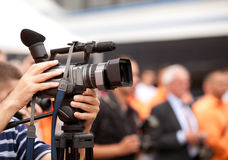 Câmara de vídeo Fotografia de Stock Royalty Free