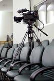 Câmara de vídeo da televisão fotografia de stock