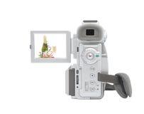 Câmara de vídeo de Digitas isolada no fundo branco. Foto de Stock