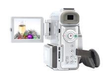 Câmara de vídeo de Digitas isolada no fundo branco. Fotografia de Stock