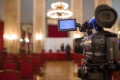 Câmara de vídeo isolada fotografia de stock