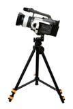 Câmara de vídeo no tripé Imagem de Stock Royalty Free