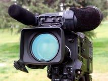 Câmara de vídeo profissional. Foto de Stock