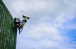 Câmara de vigilância de circuito fechado da tevê Foto de Stock Royalty Free