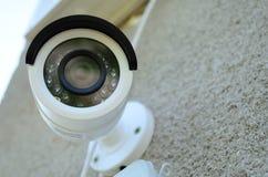 Câmara de vigilância do IP da cor do dia & da noite foto de stock