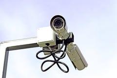 Câmara de vigilância e sistemas Foto de Stock