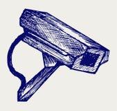 Câmara de vigilância exterior ilustração royalty free