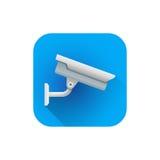 Câmara de vigilância lisa da rua do vetor Imagem de Stock Royalty Free