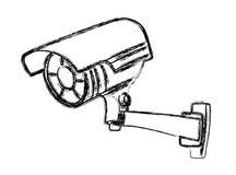 Câmara de vigilância preto e branco Imagem de Stock Royalty Free