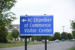 Câmara do Condado de Rutherford de comércio imagens de stock royalty free