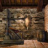 A sala do ferreiro medieval Fotos de Stock Royalty Free