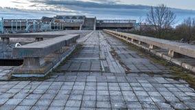 Câmara municipal abandonada de Tallinn imagem de stock