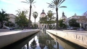 A câmara municipal bonita de Pasadena, Los Angeles, Califórnia vídeos de arquivo