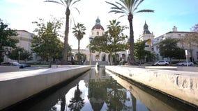 A câmara municipal bonita de Pasadena, Los Angeles, Califórnia video estoque