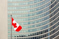 Câmara municipal canadense de Toronto da bandeira fotos de stock