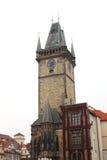 Câmara municipal em uma área em Praga Imagens de Stock Royalty Free