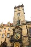 Câmara municipal em uma área em Praga Fotografia de Stock Royalty Free