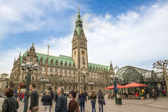 Câmara municipal de Hamburgo Imagens de Stock Royalty Free