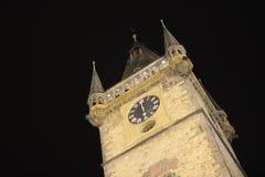Câmara municipal da noite em Praga Imagem de Stock