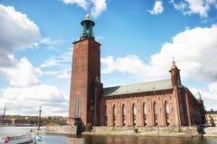Câmara municipal de Éstocolmo, Éstocolmo, Suécia Imagens de Stock