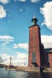 Câmara municipal de Éstocolmo, Éstocolmo, Suécia Fotografia de Stock