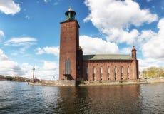 Câmara municipal de Éstocolmo, Éstocolmo, Suécia Imagem de Stock Royalty Free