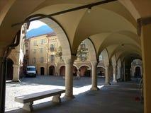 Câmara municipal de Bellinzona, Ticino, Suíça foto de stock royalty free