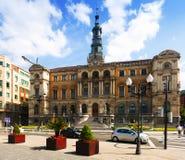 Câmara municipal de Bilbao fotografia de stock