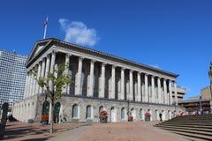 Câmara municipal de Birmingham, Victoria Square, Birmingham fotografia de stock royalty free