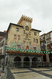 Câmara municipal de Castro Urdiales Imagens de Stock Royalty Free