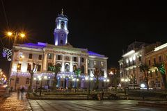 Câmara municipal de Chernivtsi, Ucrânia, 2011 fotografia de stock royalty free