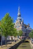 Câmara municipal de Franeker, Friesland, Países Baixos imagem de stock
