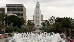 Câmara municipal de Los Angeles e fonte - Los Angeles Califórnia vídeos de arquivo