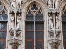 Câmara municipal de Lovaina (Bélgica) Foto de Stock Royalty Free