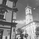 Câmara municipal de Lviv Imagem de Stock Royalty Free