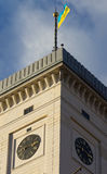 A câmara municipal de Lviv construiu em 1830-1845 a torre 65 m Fotos de Stock