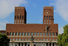Câmara municipal de Oslo, Noruega Fotos de Stock