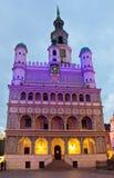 Câmara municipal de Poznan, Poland imagens de stock