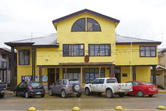 Câmara municipal de Qunchao, arquipélago de Chiloe, o Chile fotografia de stock