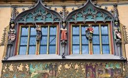 A câmara municipal de Ulm (Rathaus) - detalhe Imagem de Stock Royalty Free