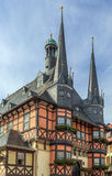 Câmara municipal de Wernigerode, Germanl Fotos de Stock Royalty Free