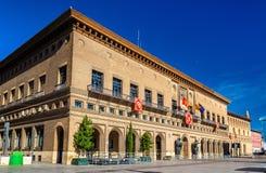 A câmara municipal de Zaragoza - Espanha, Aragon fotografia de stock