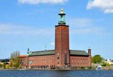 Câmara municipal em Éstocolmo, Suécia, Europa Imagem de Stock