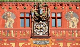 Câmara municipal em Basileia, Suíça Foto de Stock Royalty Free